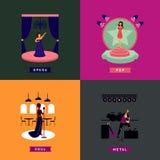 Concept coloré de personnes de chant illustration de vecteur