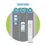Concept coloré de vue supérieure du trafic de voiture Photographie stock
