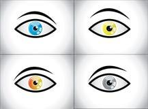 Concept coloré différent de combinaison d'oeil Photos libres de droits