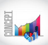 concept color business graph sign concept Royalty Free Stock Image