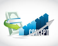 Concept color graph sign concept Stock Photos