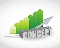 Concept color graph sign concept Stock Photography