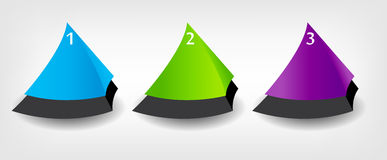 Concept of colorful banners for different business. Design. Vector illustration Stock Image