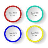 Concept of colorful banners for different business design. Vector illustration Royalty Free Stock Photography