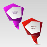 Concept of colorful banners for different business design. Vector illustration Royalty Free Stock Image