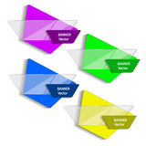 Concept of colorful banners for different business design. Vector illustration Royalty Free Stock Photo