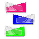 Concept of colorful banners for different business design. Vector illustration Stock Image