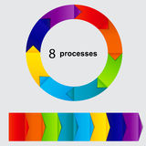 Concept of colorful circular banners Royalty Free Stock Photo