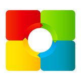 Concept of colorful circular banners Stock Images