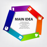 Concept of colorful circular banners afor Royalty Free Stock Images