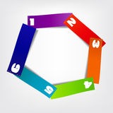 Concept of colorful circular banners afor Stock Images