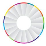 Concept of colorful circular banners with arrows Stock Image