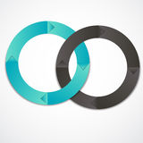 Concept of colorful circular banners with arrows Royalty Free Stock Photography