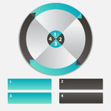 Concept of colorful circular banners with arrows Stock Photo
