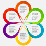 Concept of colorful circular banners in flower Stock Photography