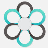 Concept of colorful circular banners in flower Royalty Free Stock Photography