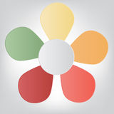 Concept of colorful flower for different business Royalty Free Stock Image