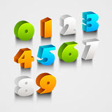 Concept of colorful numbers from 0 to 9. Royalty Free Stock Photography
