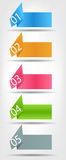 Concept of colorful origami for different business Royalty Free Stock Photography