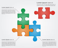 Concept of colorful puzzle pieces Stock Photography