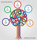 Concept of colorful tree. For different business design. Vector illustration Royalty Free Stock Images