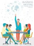 Concept commerciële vergadering royalty-vrije illustratie