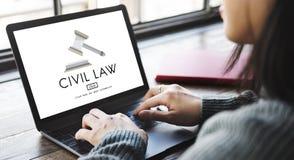 Concept commun de Legal Regulation Rights de justice de Droit Civil photo stock