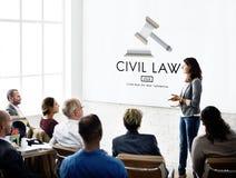 Concept commun de Legal Regulation Rights de justice de Droit Civil photo libre de droits
