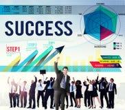 Concept complet d'accomplissement réussi de but de succès images libres de droits