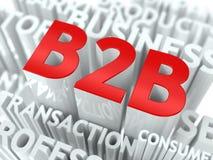 Concept comportant des termes d'entreprise à entreprise. Photos stock