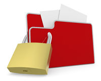 Concept of computer data protection Royalty Free Stock Photos
