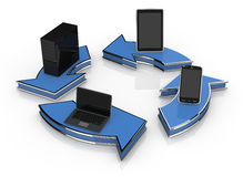 Concept of computer network Stock Images
