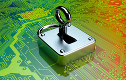 Concept of computer security Royalty Free Stock Photography