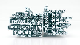 Concept of computer security Royalty Free Stock Photo