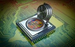 Concept computerveiligheid Stock Afbeelding