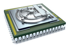Concept computerveiligheid Stock Foto's