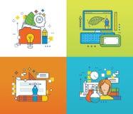 Concept - conception et création créatives, formation en ligne, support technique illustration libre de droits