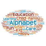 Concept or conceptual child education or family abstract word cloud Stock Photo