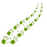 Concept or conceptual print hand way. Background Royalty Free Stock Photo
