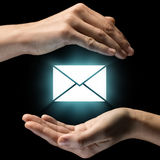 Concept of confidentiality of correspondence. Royalty Free Stock Photo