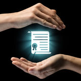 Concept of confidentiality, data protection. Royalty Free Stock Photography