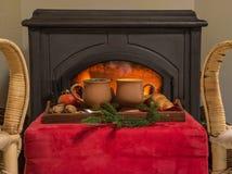 Concept confortable de vacances de Noël ou d'hiver photo libre de droits