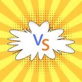 Concept of Confrontation, Together Final Fighting. Versus VS Letters Fight Background in Flat Comics Style with Halftone. Concept of Confrontation, Together Royalty Free Stock Photography
