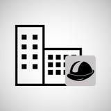 concept constrcution building helmet icon graphic Royalty Free Stock Photos
