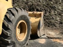 Close-up of a Construction site Bulldozer. Photo Image Stock Image