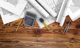 Concept of construction and design. Royalty Free Stock Images