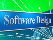Concept construction et programmation de moyens de conception du logiciel Image libre de droits