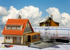 Concept of construction and sale of estate Stock Photography