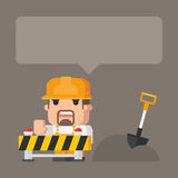 Concept construction works Royalty Free Stock Image