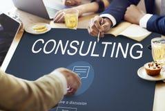 Concept consultatif de consultation de conseils de suggestion d'aide photo libre de droits